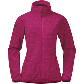 Bergans Hareid NoHood Fleece Jacket Women bougainvillea melange